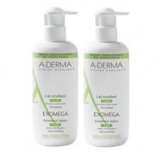 A-Derma Комплект Экзомега Control Смягчающий Лосьон 2х400 мл (A-Derma, Exomega Control)