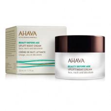 Ahava Ночной крем для подтяжки кожи лица, шеи и зоны декольте, 50 мл (Ahava, Beauty before age)