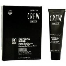 AMERICAN CREW 2/3 краска для седых волос, темный натуральный, для мужчин / Precision Blend 3*40 мл