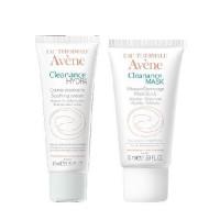 Avene Комплект Клинанс Гидра Успокаивающий крем, 40мл+Маска для глубокого очищения, 50мл (Avene, Cleanance)