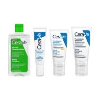 CeraVe Набор Универсальный: Очищающая мицеллярная вода 295 мл + Лосьон для лица 52 мл + Лосьон для лица SPF25, 52 мл + крем для области вокруг глаз 14 мл (CeraVe, Увлажнение кожи)