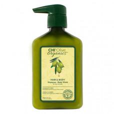 CHI Шампунь для волос и тела с маслом Оливы