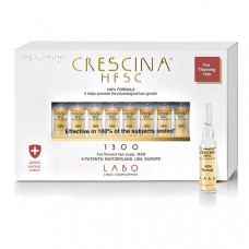 """Crescina Лосьон для мужчин """"Hfsc 100%"""" 1300 для стимуляции роста волос, 40*3,5 мл (Crescina, Crescina 1300)"""