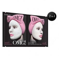 Double Dare OMG Detox Bubbling Microfiber Mask Маска двухкомпонентная для глубокого очищения и питания 5 шт. (Double Dare OMG, Double Dare)