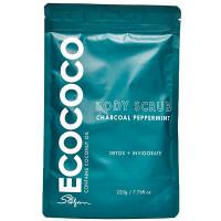 ECOCOCO Скраб для тела для детокса и бодрости Уголь и Мята