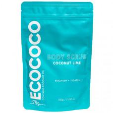 ECOCOCO Скраб для тела для сияния и упругости Лайм и Кокос