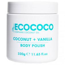 ECOCOCO Скраб для тела отшелушивающий и питательный Кокос и Ваниль