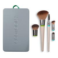 ECOTOOLS Набор кистей для макияжа (5 сменных насадок и 2 ручки) EcoTools Interchangeables Daily Essentials Total Face Kit