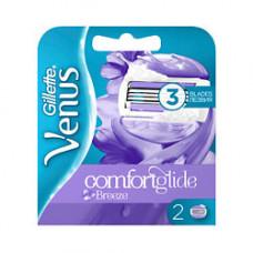 GILLETTE Cменные кассеты для бритья (cо встроенными подушечками с гелем) Venus Comfortglide Breeze 4 шт.