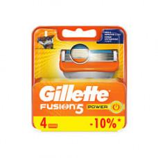 GILLETTE Сменные кассеты для бритвы Gillette Fusion Power 4 шт.