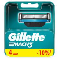 GILLETTE Сменные кассеты для бритья MACH3