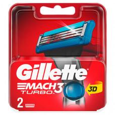 GILLETTE Сменные кассеты для бритья MACH3 Turbo