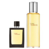 HERMÈS Terre d'Hermès Eau de Toilette Travel Spray 30 ml and Refill 125 ml