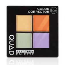 J. CAT BEAUTY Палетка корректор цвета для лица QUAD 103 Color Corrector 6 г