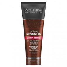 JOHN FRIEDA Шампунь для усиления насыщенности оттенка темных волос Brilliant Brunette VISIBLY DEEPER