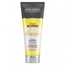 JOHN FRIEDA Шампунь осветляющий для натуральных, мелированных и окрашенных светлых волос Sheer Blonde Go Blonder