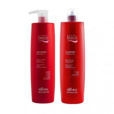 Kaaral Набор для окрашенных волос с гидролизатами шелка и кератином (Шампунь, 1000 мл + Кондиционер, 1000 мл), 1 шт. (Kaaral, Baco)