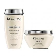 Kerastase Комплект Денсифик Шампунь-Ванна для уплотнения волос, 250мл+Маска для восстановления волос, 200мл (Kerastase, Densifique)