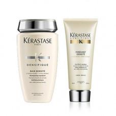 Kerastase Комплект Денсифик Шампунь-Ванна для уплотнения волос, 250мл+Молочко, 200мл (Kerastase, Densifique)