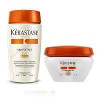 Kerastase Комплект Шампунь-Ванна САТИН №2, 250мл+Маска Интенс для сухих и чувствительных волос, 200мл (Kerastase, Nutritive)