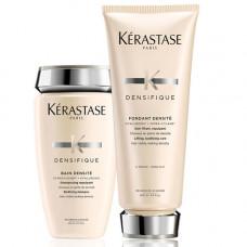 Kerastase Набор Densifique Легкий уход на каждый день для плотности и мягкости волос (Уплотняющий Шампунь-Ванна Densite, 250 мл + Молочко Densite, 200 мл) (Kerastase, Densifique)