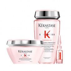 Kerastase Набор для ослабленных волос Genesis (Маска, 200 мл + Ампулы, 10* 6 мл + Шампунь-ванна, 250 мл) (Kerastase, Genesis)