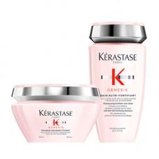 Kerastase Набор для ослабленных волос Genesis (Маска, 200 мл + Шампунь-ванна, 250 мл) (Kerastase, Genesis)