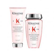 Kerastase Набор для ослабленных волос Genesis (Шампунь-ванна, 250 мл + Молочко, 200 мл) (Kerastase, Genesis)