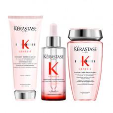 Kerastase Набор для ослабленных волос Genesis (Шампунь-ванна, 250 мл + Молочко, 200 мл + Сыворотка, 90 мл) (Kerastase, Genesis)