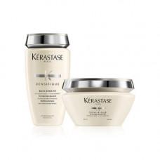 """Kerastase Набор """"Плотность и сила"""": Денсифик Шампунь-Ванна для уплотнения волос 250 мл + Денсифик Маска для восстановления волос 200 мл (Kerastase, Densifique)"""
