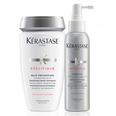 Kerastase Набор Победа над выпадением (Шампунь-Ванна Prevention 250 мл + Уход-Спрей Stimuliste, 125 мл) (Kerastase, Specifique)