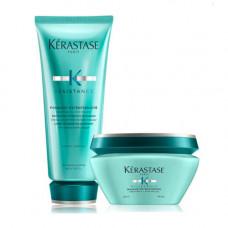 """Kerastase Набор """"Усиление прочности волос"""": Молочко 200 мл + Маска 200 мл (Kerastase, Resistance Extentioniste)"""