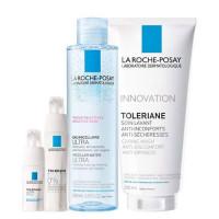 La Roche-Posay Набор: Флюид Толеран Ультра 40 мл + Толеран Ультра для глаз 20 мл + Толеран Очищающий гель 200 мл + Мицеллярная вода для чувствительной кожи, 200 мл (La Roche-Posay, Toleriane)