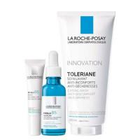 "La Roche-Posay Набор ""Корректирующий антивозрастной уход"": Hyalu B5 serum30 мл + Hyalu B5 eyes 15 мл + Toleriane gel 200 мл (La Roche-Posay, Hyalu B5)"