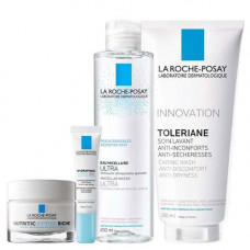 La Roche-Posay Набор: Нутритик Интенс Риш 50 мл + Гидрафаз Интенс для контура глаз 15 мл + Толеран Очищающий гель 200 мл + Мицеллярная вода для чувствительной кожи, 200 мл (La Roche-Posay, Nutritic)