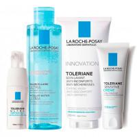 La Roche-Posay Набор Toleriane (Легкий крем Sensitive, 40 мл + Очищающий гель-уход, 200 мл + Мицеллярная вода Ultra, 200 мл + Уход вокруг глаз Ultra, 20 мл) (La Roche-Posay, Toleriane)