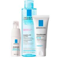 La Roche-Posay Набор Toleriane (Насыщенный крем Sensitive Riche, 40 мл + Мицеллярная вода Ultra, 200 мл + Уход для кожи вокруг глаз Ultra, 20 мл) (La Roche-Posay, Toleriane)