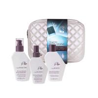 L'Alga Дорожный набор «Термозащита волос с сывороткой» в белой стеганой косметичке, 100 мл+100 мл+100 мл (L'Alga, )