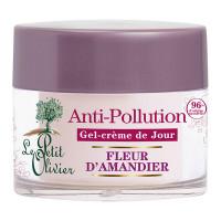 LE PETIT OLIVIER Гель-крем для лица дневной с цветками миндального дерева Защита от агрессивных факторов окружающей среды