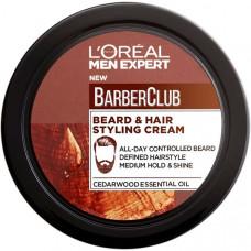 L'OREAL PARIS Men Expert Barber Club Крем-стайлинг для Бороды + Волос, с маслом кедрового дерева