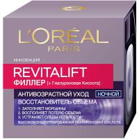 """L`OREAL PARIS Ночной антивозрастной крем """"Ревиталифт Филлер [ha]"""" против морщин для лица, 50 мл"""