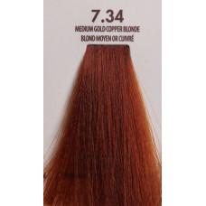 MACADAMIA Natural Oil 7.34 краска для волос, средне золотистый медный блондин / MACADAMIA COLORS 100 мл