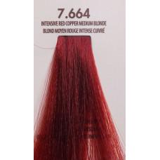 MACADAMIA Natural Oil 7.664 краска для волос, яркий красно медный средний блондин / MACADAMIA COLORS 100 мл