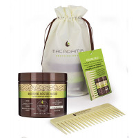 MACADAMIA Natural Oil Набор Увлажнение и уход для тонких волос / Weightless Moisture 222 мл + 1 шт