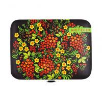 Metzger, Маникюрный набор MS-2957(6) Черный с красными ягодами