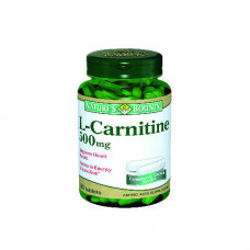 Nature`s Bounty L-карнитин 500 мг 30 таблеток (Nature`s Bounty, Витамины)