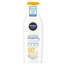 """NIVEA Солнцезащитный лосьон для тела Nivea Sun """"Ультразащита"""" для чувствительной кожи SPF 50, водостойкий"""