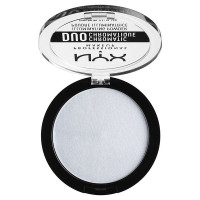 NYX Professional Makeup Сухой хайлайтер. DUO CHROMATIC ILLUMINATING POWDER