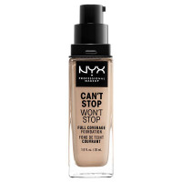 NYX Professional Makeup Тональная основа с плотным покрытием. CAN'T STOP WON'T STOP FULL COVERAGE FOUNDATION