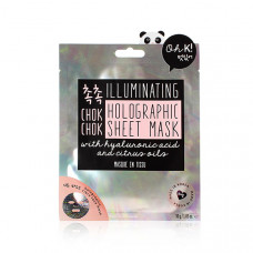 OH K! CHOK CHOK HOLOGRAPHIC SHEET MASK Маска для лица увлажняющая и придающая сияние коже